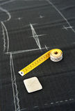 Tape measure in a clothing design studio Royalty Free Stock Photo