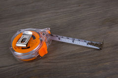 Tape measure, construction estimating tools Royalty Free Stock Images