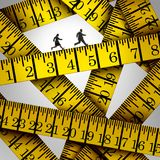Tape Measure Crisis Royalty Free Stock Images