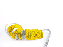 Tape Measure Curled Up Stock Photo