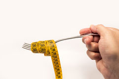 Tape measure for diet concept Stock Images