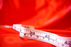 Tape measure on fabric A Stock Image