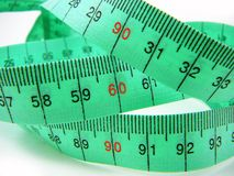 Tape Measure Focus on 90-60-90 Stock Image