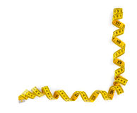 Tape measure frame Stock Images