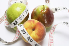 Tape Measure and Fruits Royalty Free Stock Photography