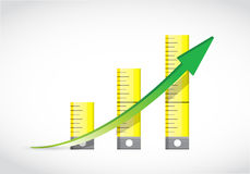 Tape measure graph illustration Royalty Free Stock Images
