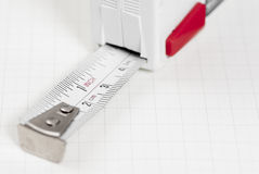 Tape Measure on Graph Paper. Stock Images