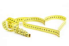 Tape Measure Heart Shape - Health, Weight Concept Royalty Free Stock Photos