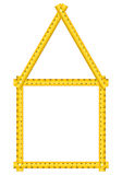 Tape measure house Stock Images