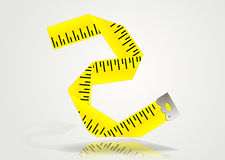Tape measure icon Stock Image
