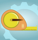 Tape measure. Icon. Roulette construction symbol vector illustration