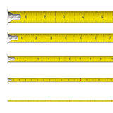 Tape measure in inches. Vector illustration of a tape measure in inches Royalty Free Stock Photos