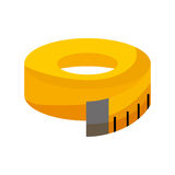 Tape measure isolated icon Royalty Free Stock Photography