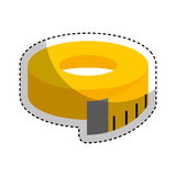 Tape measure isolated icon Stock Images