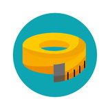 Tape measure isolated icon Royalty Free Stock Photo