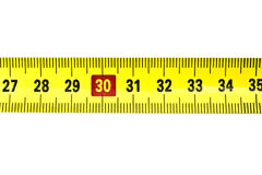 Tape measure isolated on white Royalty Free Stock Image