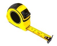 Tape measure on isolated. Tape measure isolated on white Stock Photo