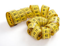 Tape measure isolated on a white background Royalty Free Stock Photo