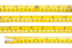 Tape measure. Isolated on white background Royalty Free Stock Images