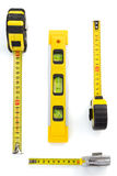 Tape measure isolated on white Royalty Free Stock Photo