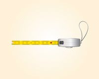 Tape measure length in centimeters. Vector illustration Royalty Free Stock Photo