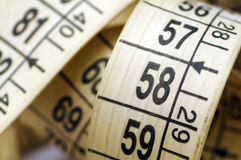 Tape measure macro. Macro of white tape measure Royalty Free Stock Photos