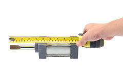 Tape Measure with Object Stock Photography