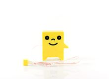 Tape measure. Objects  for contruction Royalty Free Stock Photo