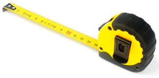 Tape-measure over white Stock Images
