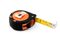 Tape measure over white Royalty Free Stock Photos