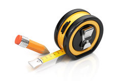 Tape measure and pencil Stock Image