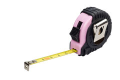 Tape measure with pink design isolated Stock Photo