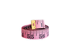 Tape measure ribbon  isolated on white background Stock Images