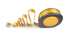 Tape measure ruler. 3D Icon  Royalty Free Stock Photography