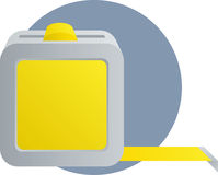 Tape measure ruler tool illustration Stock Photography