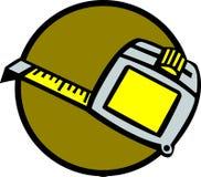 Tape measure ruler vector illustration. Vector illustration of a tape measure ruler Royalty Free Stock Images