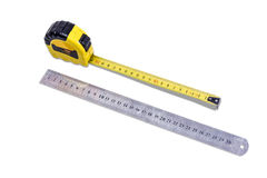 Tape measure and ruler Royalty Free Stock Images