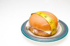 Tape Measure and Sandwich Stock Image