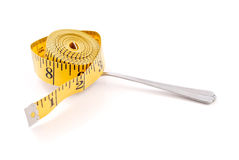 Tape Measure on Spoon Royalty Free Stock Photography