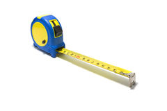 The tape measure tool. The tape measure isolated on white background Royalty Free Stock Photos
