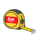 Tape measure. Vector cartoon clipart picture of a tape measure stock illustration