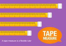 Tape measure, vector illustration Stock Image