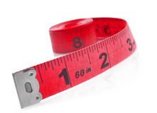 Tape measure on a white background Royalty Free Stock Photography