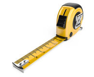 Tape measure  on white background Royalty Free Stock Photos