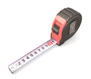 Tape measure on the white background Royalty Free Stock Images