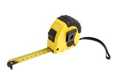 Tape measure on white background Stock Photos