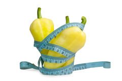 Tape Measure With Pepper Stock Image