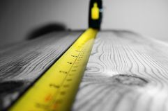 Tape measure wood A Stock Photo