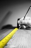 Tape measure wood C Stock Photo