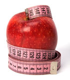 Tape measure wrapped around the apple Royalty Free Stock Photo